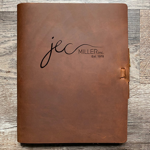 Custom Order Chad C - Composition Cut - Refillable Leather Journal 20210219