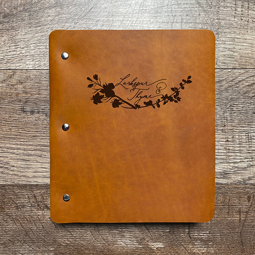 Custom Order Greg W - Wide Cut - Refillable Leather Binder 20210201