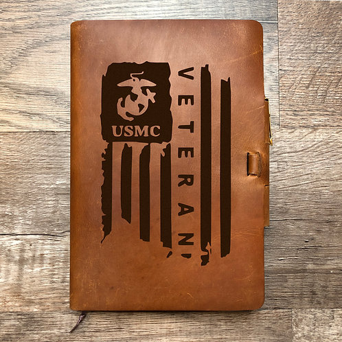 Custom Order Isaac E - Classic Cut - Refillable Leather Journal 20201116