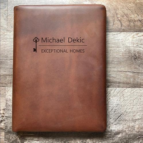 Custom Order Michael D - Executive Cut - Refillable Leather Folio 20210201