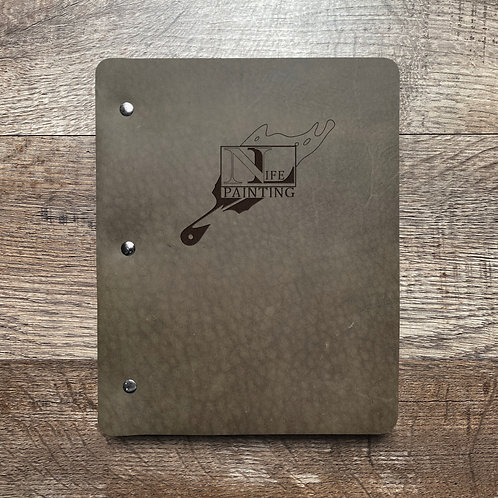 Custom Order Jon T - Slim Cut - Refillable Leather Binder 20210128
