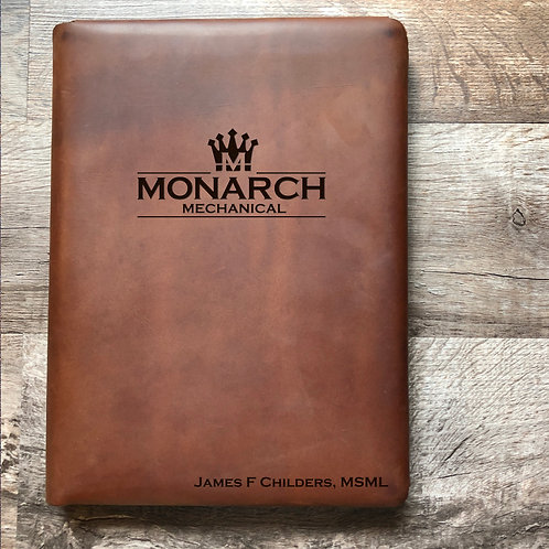 Custom Order James C - Executive Cut - Refillable Leather Folio 20201124