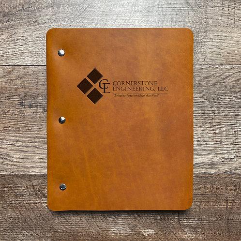 Custom Order Mauricka M - Slim Cut - Refillable Leather Binder 20210105