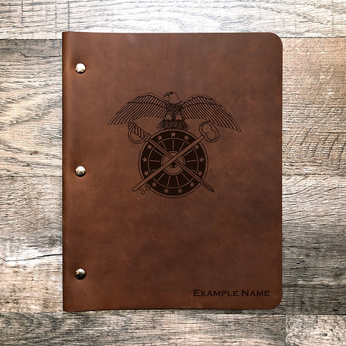 Custom Order Liana S. Wide Cut - Refillable Leather Binder 20200521