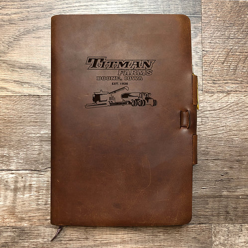 Custom Order Ryan T - Classic Cut - Refillable Leather Journal 20201013 farm