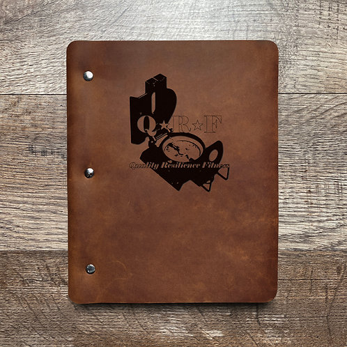 Custom Order Christopher P - Slim Cut - Refillable Leather Binder 20210211