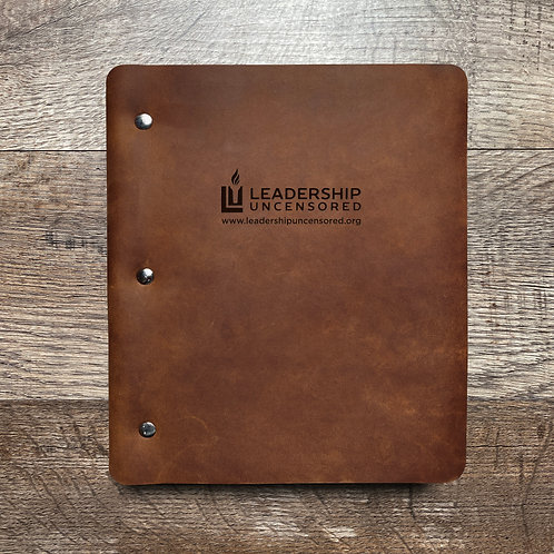 Custom Order Gene H - Wide Cut - Refillable Leather Binder 20201009