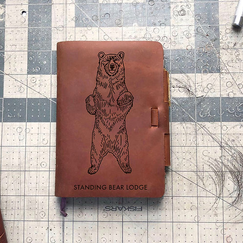 Custom Order William F - Mini Cut - Refillable Leather Journal 20210105