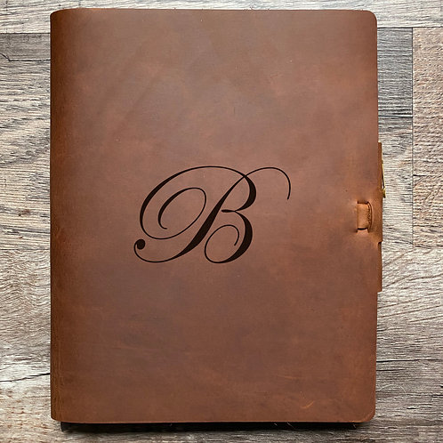 Custom Order Cameron R - Composition Cut - Refillable Leather Journal 20200917