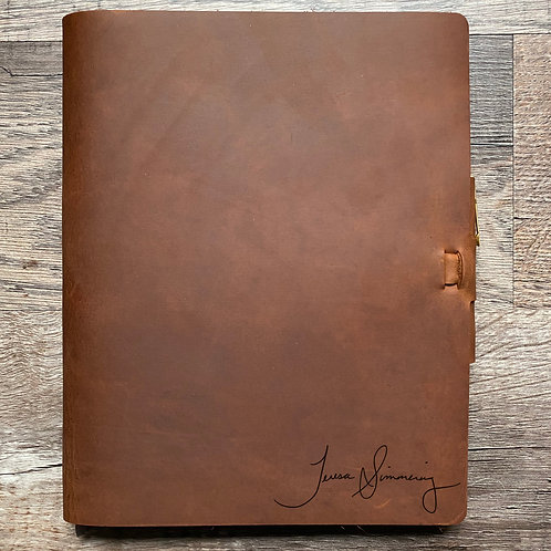 Custom Order Randal L - Composition Cut - Refillable Leather Journal 20201113