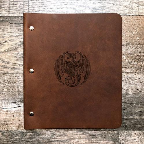 Custom Order Kathy P - Wide Cut - Refillable Leather Binder Presale 20200810