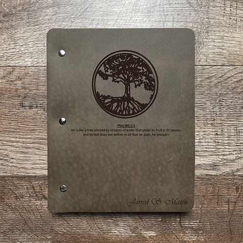 Custom Order Jarred M - Slim Cut - Refillable Leather Binder 20200813