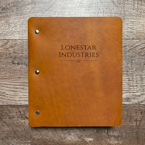 Custom Order Joseph O - Wide Cut - Refillable Leather Binder 20200115
