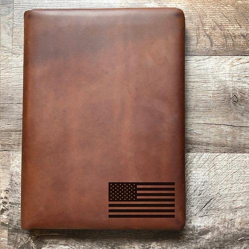 American Flag - Small - Executive Cut - Refillable Leather Folio