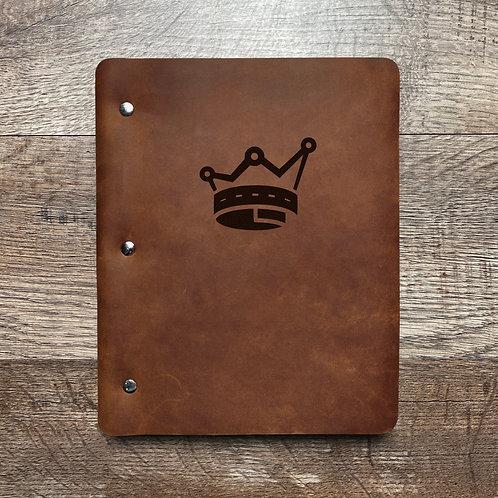 Custom Order Todd K - Slim Cut - Refillable Leather Binder 20210104