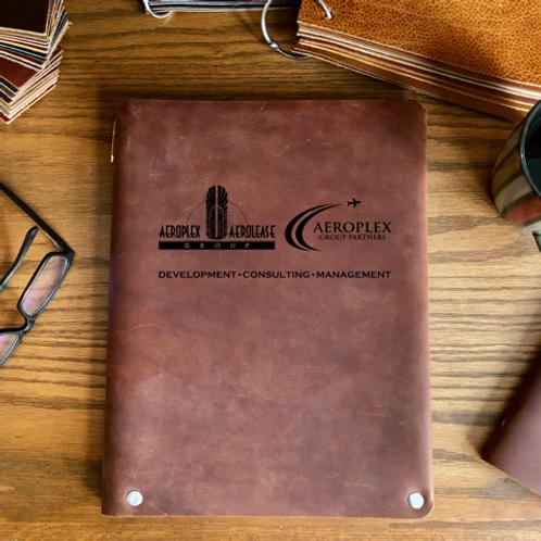 Custom Order Justin C - Executive Cut - Refillable Leather Folio 20201201
