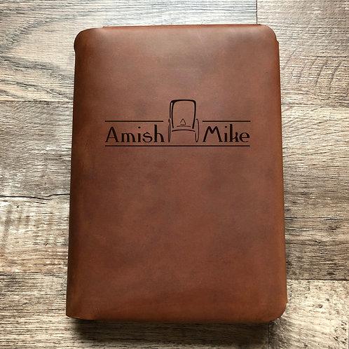 Custom Order Mike M - Travel Cut - Refillable Leather Folio 20210106