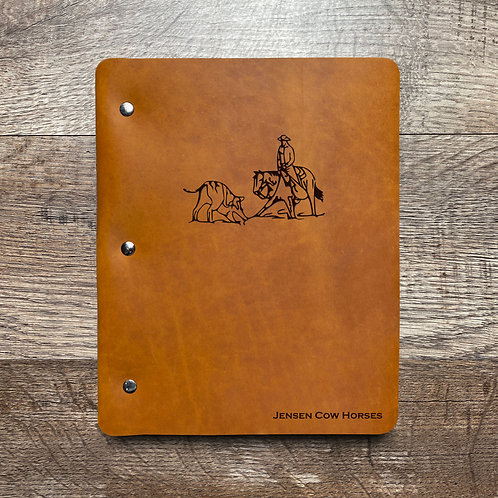 Custom Order Jody J - Slim Cut - Refillable Leather Binder 20210217