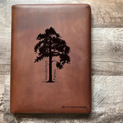 Custom Order Matt H - Executive Cut - Refillable Leather Folio 20210218