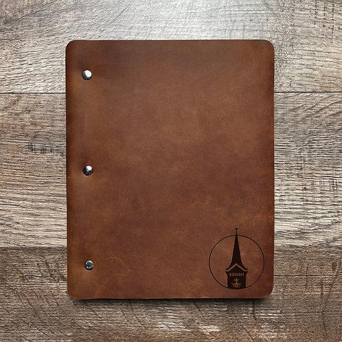 Custom Order Bill E - Slim Cut - Refillable Leather Binder 20201102
