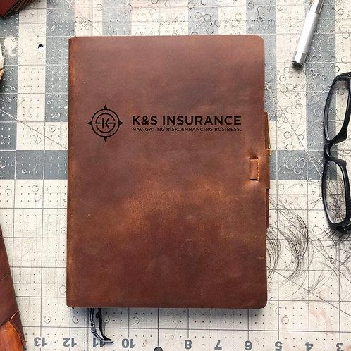 Custom Order Brad B - Metric Cut - Refillable Leather Journal 20210202