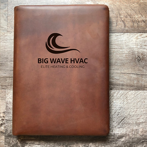Custom Order Kate A - Executive Cut - Refillable Leather Folio 20201218