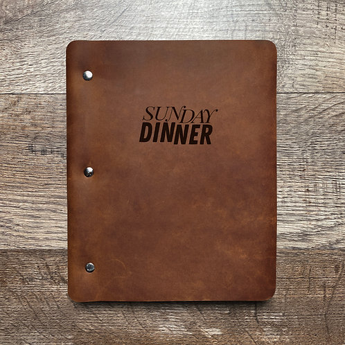 Custom Order Justin W - Slim Cut - Refillable Leather Binder 20210107