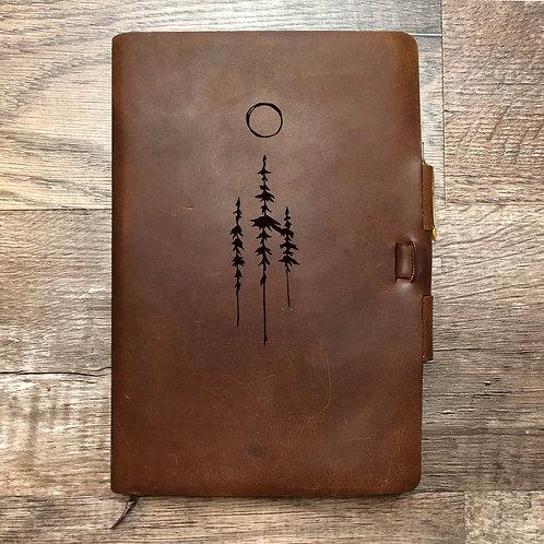 Custom Order Randy C - Classic Cut - Refillable Leather Journal 20210218