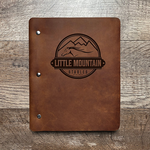 Custom Order Joshua H - Slim Cut - Refillable Leather Binder 20201209