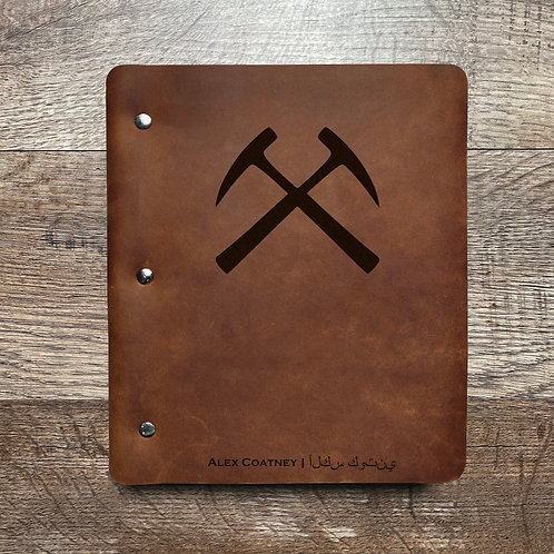 Custom Order Keith C - Wide Cut - Refillable Leather Binder 20201202