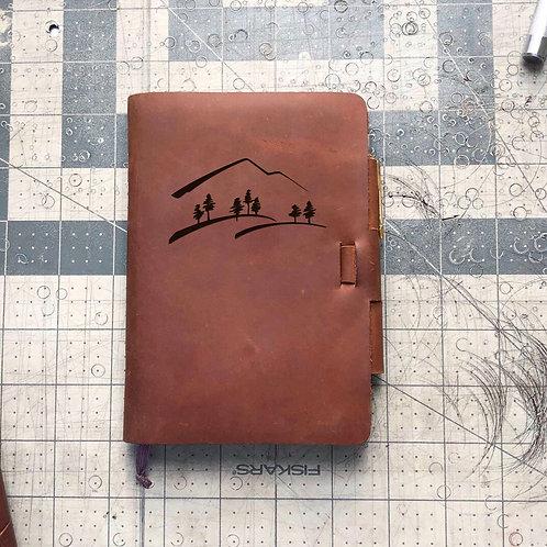 Custom Order Alicia P - Mini Cut - Refillable Leather Journal 20210209