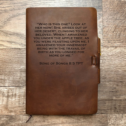 Custom Order Caleb B - Classic Cut - Refillable Leather Journal 20200902