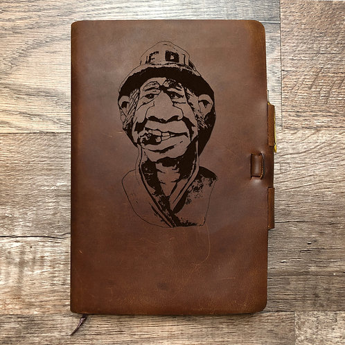 Custom Order Carolyn A - Classic Cut - Refillable Leather Journal 20201207