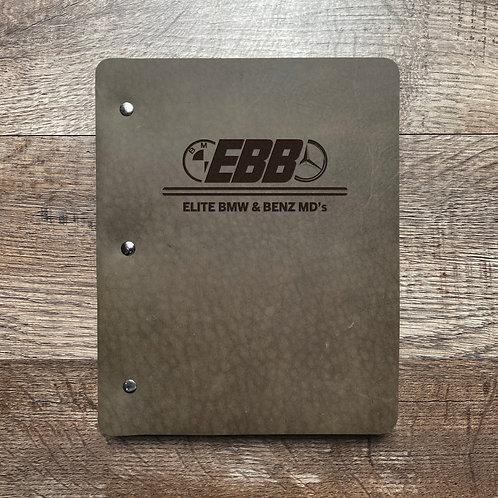Custom Order Ryan H - Slim Cut - Refillable Leather Binder 20201002