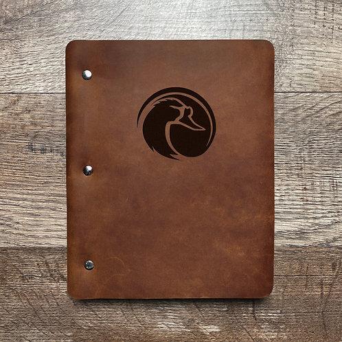 Custom Order Joe S - of Slim Cut - Refillable Leather Binder 20210108