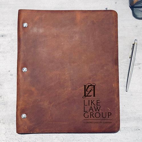 Custom Order Lance L - Wide Cut - Refillable Leather Binder 20200806 v2