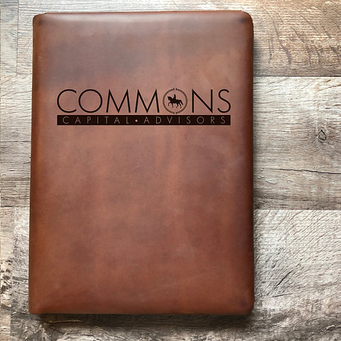Custom Order Jonathan S - Executive Cut - Refillable Leather Folio 20201214