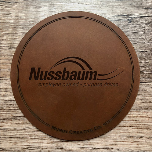 Custom Order Phillip A - Leather 4 Coaster Set - 20200914