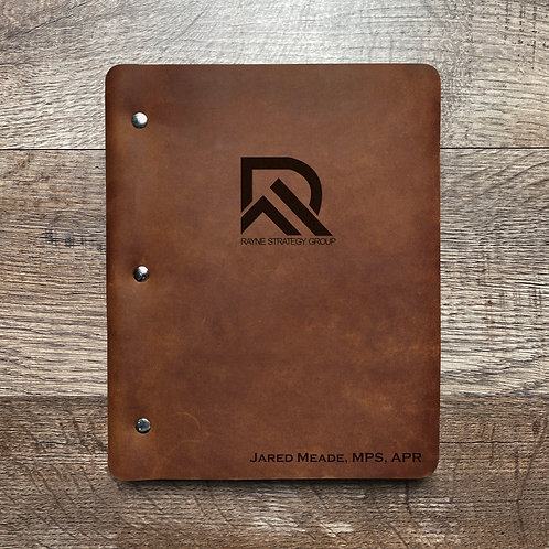 Custom Order Jared M - Slim Cut - Refillable Leather Binder 20200813