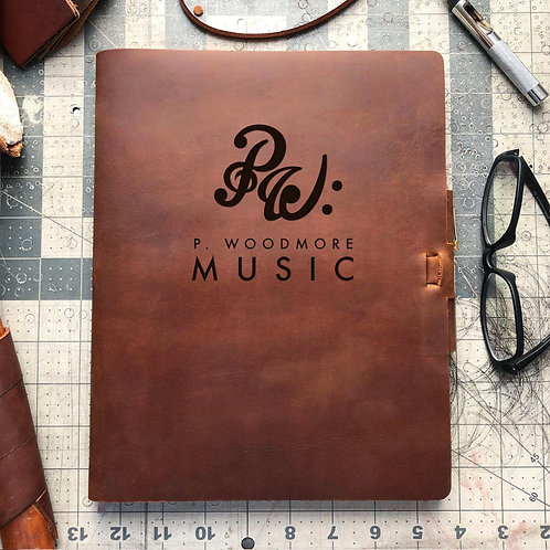 Custom Order Phil W - Composition Cut - Refillable Leather Journal 20210105