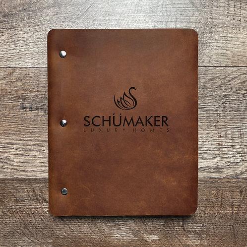 Custom Order Schumaker - Slim Cut - Refillable Leather Binder 20200915