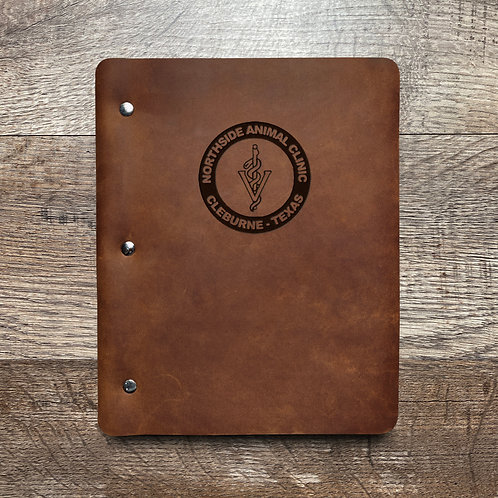 Custom Order Kevin P - Slim Cut - Refillable Leather Binder 20201110 W/ PEN