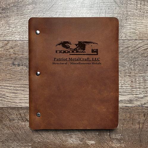 Custom Order Darrell S - Slim Cut - Refillable Leather Binder 20210201
