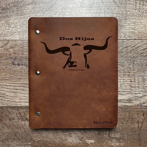 Custom Order Ed L - Slim Cut - Refillable Leather Binder 20201117