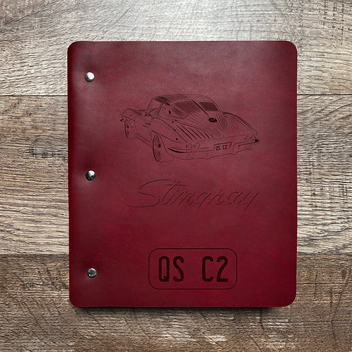 Custom Order Edward N - Wide Cut - Refillable Leather Binder 20201229