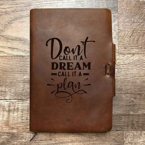 Custom Order Jacqueline F - Classic Cut - Refillable Leather Journal 20210107