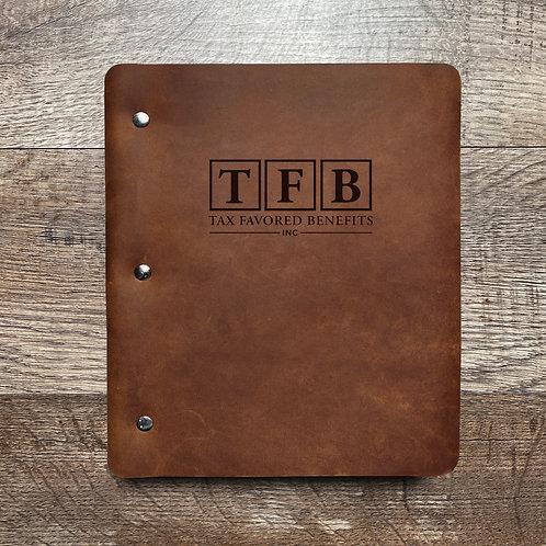 Custom Order Jeff P - Wide Cut - Refillable Leather Binder 20201005