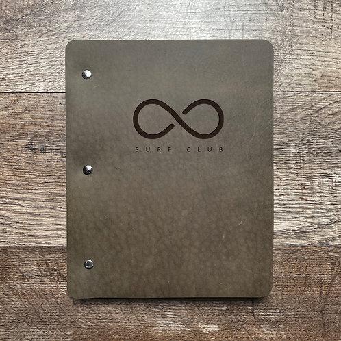 Custom Order Bob E - Slim Cut - Refillable Leather Binder 20210113