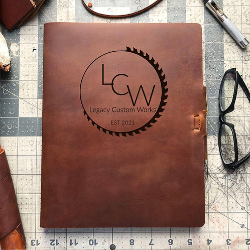 Custom Order LCW - Composition Cut - Refillable Leather Journal 20210115