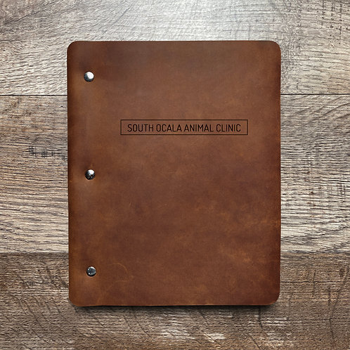 Custom Order Kevin P - Slim Cut - Refillable Leather Binder 20210119 3 W/ PEN